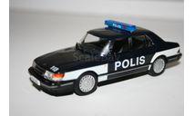 1/43 Saab 900 Turbo Полиция Финляндии №72 ПММ, масштабная модель, DeAgostini, 1:43