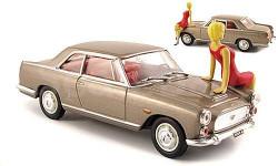 1:43 Lancia Flaminia Coupé 3B, met.-grau, Spielwarenmesse 2008, mit Figur, масштабная модель, 1/43, Starline