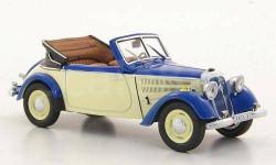 1:43 IFA F8 Cabrio, blau/creme 1953 L.E.400 psc RAR, масштабная модель, 1/43, IST Models