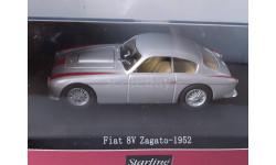 1:43 Fiat 8V Zagato, silber/rot 1952, масштабная модель, 1/43, Starline