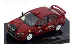 1:43 Mitsubishi Lancer Evo X group N, Presentation Car red 2008 RAR