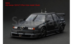1:43 Alfa Romeo 155V6 TI Plain Body Version black L.E.1920pcs., масштабная модель, 1/43, HPI