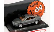 1:64 Bentley Continental GT 2008 gray metallic L.Е.5040pcs., масштабная модель, 1/64, Minichamps