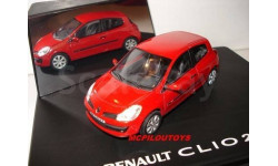 1:43 RENAULT CLIO 2005 ROUGE 3 PORTES, масштабная модель, 1/43, Eligor