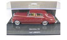 1:43 Bentley S2 Saloon 1960 dark red L.E. 1200pcs #436 139951, масштабная модель, 1/43, Minichamps
