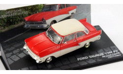 1:43 Ford Taunus 17M (P2) De Luxe Coupe Year 1957-1959 red / white, масштабная модель, 1/43, Altaya