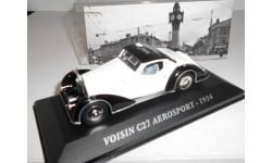 1:43 Voisin C27 Aerosport 1934 white/black, масштабная модель, 1/43, Altaya