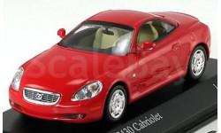 1:43 Lexus SC 430 Cabrio 2001 rot LimEd. 1008 pcs. RAR, масштабная модель, 1/43, Minichamps