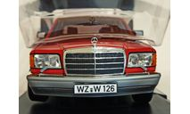 Mercedes 560Sel W126 1:18 Norev Red Limited, масштабная модель, Mercedes-Benz, scale18