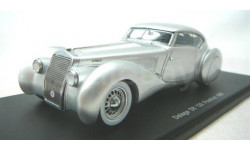 Модель DELAGE D8 120 POURTOUT COUPE 1937 1/43 SPARK, масштабная модель, 1:43
