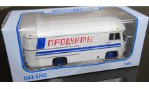 Модель ПАЗ-3742 рефрижератор 'Продукты' 1/43 СОВА, масштабная модель, scale43