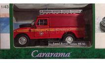 Модель LAND ROVER SIII 109 FIRE RECUE 1/43 HONGWELL/CARARAMA, масштабная модель, scale43