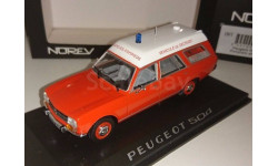 PEUGEOT 504 4х4 BREAK POMPIERS AMBULANCE 1/43 NOREV