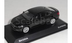 Skoda Superb  III 2015  black, масштабная модель, scale43