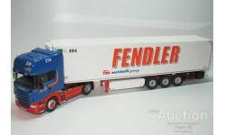 1/50 Scania R500 + Refrigeration Trailer Krone Fendler (NZG), масштабная модель, scale50