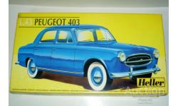 1/43 Peugeot 403 №19 Rallye Lyon Charbonnieres (Heller) Kit, сборная модель автомобиля, 1:43