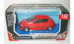 1/43 Peugeot 206 (Cararama/Bauer), масштабная модель, scale43, Bauer/Cararama/Hongwell