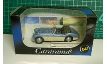 Austin Healey 100/6 cabriolet, голубой с белым, масштабная модель, 1:43, 1/43, Bauer/Cararama/Hongwell