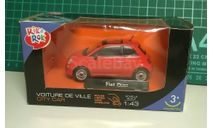 Fiat 500 new, красный, Rik&Rok (Cararama/Hongwell), 1:43, масштабная модель, 1/43, Bauer/Cararama/Hongwell