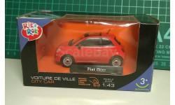 Fiat 500 new, красный, Rik&Rok (Cararama/Hongwell), 1:43