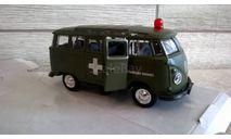 скорая помощь ( ambulance) фольксваген микроавтобус, масштабная модель, Volkswagen, 1:43, 1/43