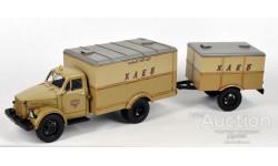 СарЛаб SL155А ГЗТМ-892 хлебный фургон на ш. ГАЗ51А с прицепом У-121, 3-х цветный вариант, со следами sarlab