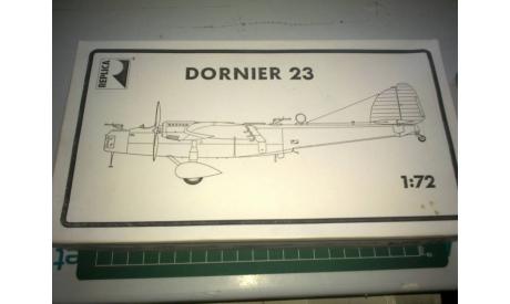Самолет 1/72 Dornier Do-23, сборные модели авиации, 1:72, REPLICA