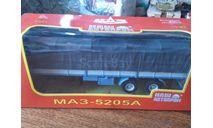 Полуприцеп МАЗ 5205А с тентом, масштабная модель, Наш Автопром, scale43
