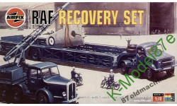 RAF Recovery Set - Coles Crane, Bedford & Queen Mary Trailer & M/Cycles