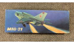 Кругозор МиГ-21 1/50 MiG-21 DIWI 1975 ULTRA RARE!!! ГДР СССР сборная модель самолёта РЕДКОСТЬ!!!