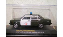 Seat 131 supermirafiori agrupacion de trafico-guardia civil 1979, масштабная модель, Altaya, 1:43, 1/43