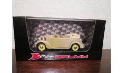 fiat 1100 (508c.) cabriolet coloniaie 1937, масштабная модель, BRUMM, scale43