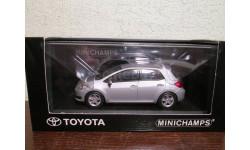 toyota auris 2008  silver, масштабная модель, minichamps, scale43