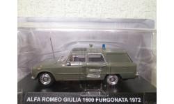 Alfa Romeo Giulia 1600 Furgonata Carabinieri 1972 DeAgostini, масштабная модель, 1:43, 1/43