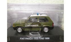 fiat panda 1000 fire 1986 1/43 deagostini, масштабная модель, scale43