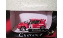 Peugeot 206 WRC (Cararama) 1/43, масштабная модель, 1:43