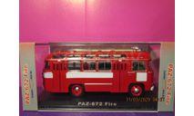 паз 672 пожарный classicbus 1/43, масштабная модель, scale43