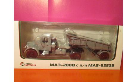 МАЗ-200в с п/п МАЗ-5232в Автоистория 1/43, масштабная модель, АИСТ, scale43