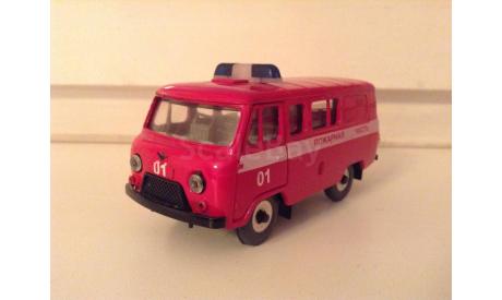 УАЗ-39099 №05 Пожарная часть СаАвто сделано в РФ 2009 коробка «Инкотекс», масштабная модель, Тантал, 1:43, 1/43