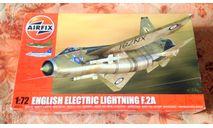Сборная модель самолета Lightning F.2А от Airfix (А04054), сборные модели авиации, English Electric, scale72
