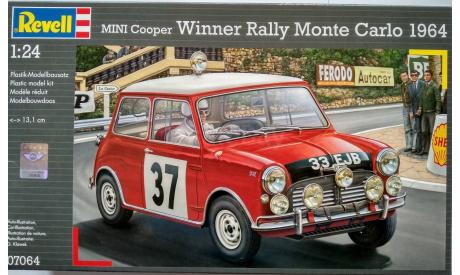 Revell 1/24 Mini Cooper Rally 1964, сборная модель автомобиля, scale24