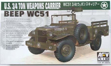 DODGE WC-51 AFV CLUB 1/35 model kit, сборная модель автомобиля, scale35