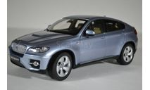 BMW X6 Active Hybrid (E71) голубой мет., масштабная модель, Kyosho, scale18