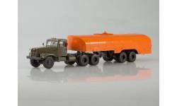 КрАЗ-258Б1 с полуприцепом-цистерной ТЗ-22 (хаки-оранжевый)
