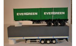 Полуприцеп-контейнеровоз МАЗ-938920 с контейнерами EVERGREEN + полуприцеп -контейнеровоз  МАЗ-938920