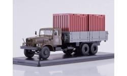 КРАЗ-257Б1 бортовой с контейнерами