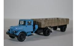 МАЗ-200В + МАЗ-5215 (голубой коричневый), масштабная модель, Автоистория (АИСТ), 1:43, 1/43