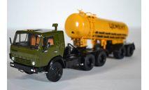 КАМАЗ-54112 с полуприцепом-цементовозом ТЦ-11, масштабная модель, ПАО КАМАЗ, 1:43, 1/43