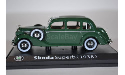 Skoda Superb 913 1938 Dark Green, масштабная модель, Škoda, Abrex, 1:43, 1/43