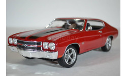 GreenLight 12945 CHEVROLET Chevelle SS 1970 Fast & Furious (из кф Форсаж IV) красный, масштабная модель, Greenlight Collectibles, scale18